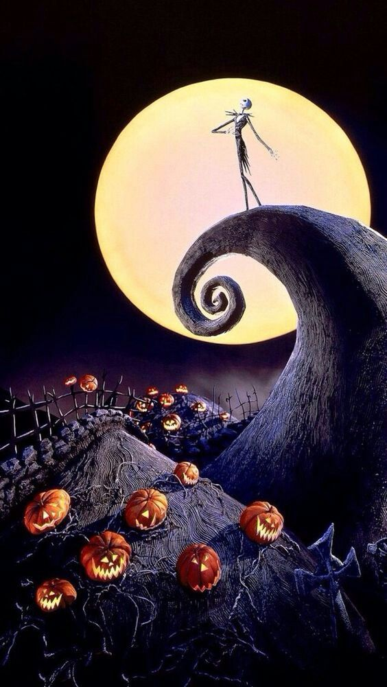 The Nightmare Before Christmas Wallpaper Nightmare Before Christmas Wallpaper Halloween Full Moon Halloween Wallpaper Iphone