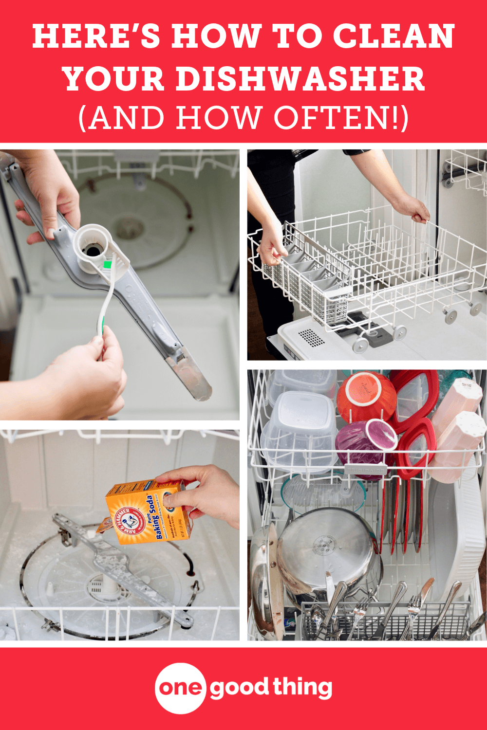 How To Clean A Dishwasher In 3 Steps One Good Thing By Jillee Cleaning Your Hacks