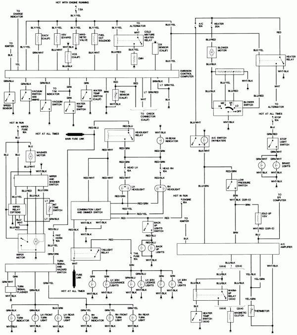 17 1994 Toyota Pickup Truck Wiring Diagram Toyota Trucks Pickup Trucks Toyota