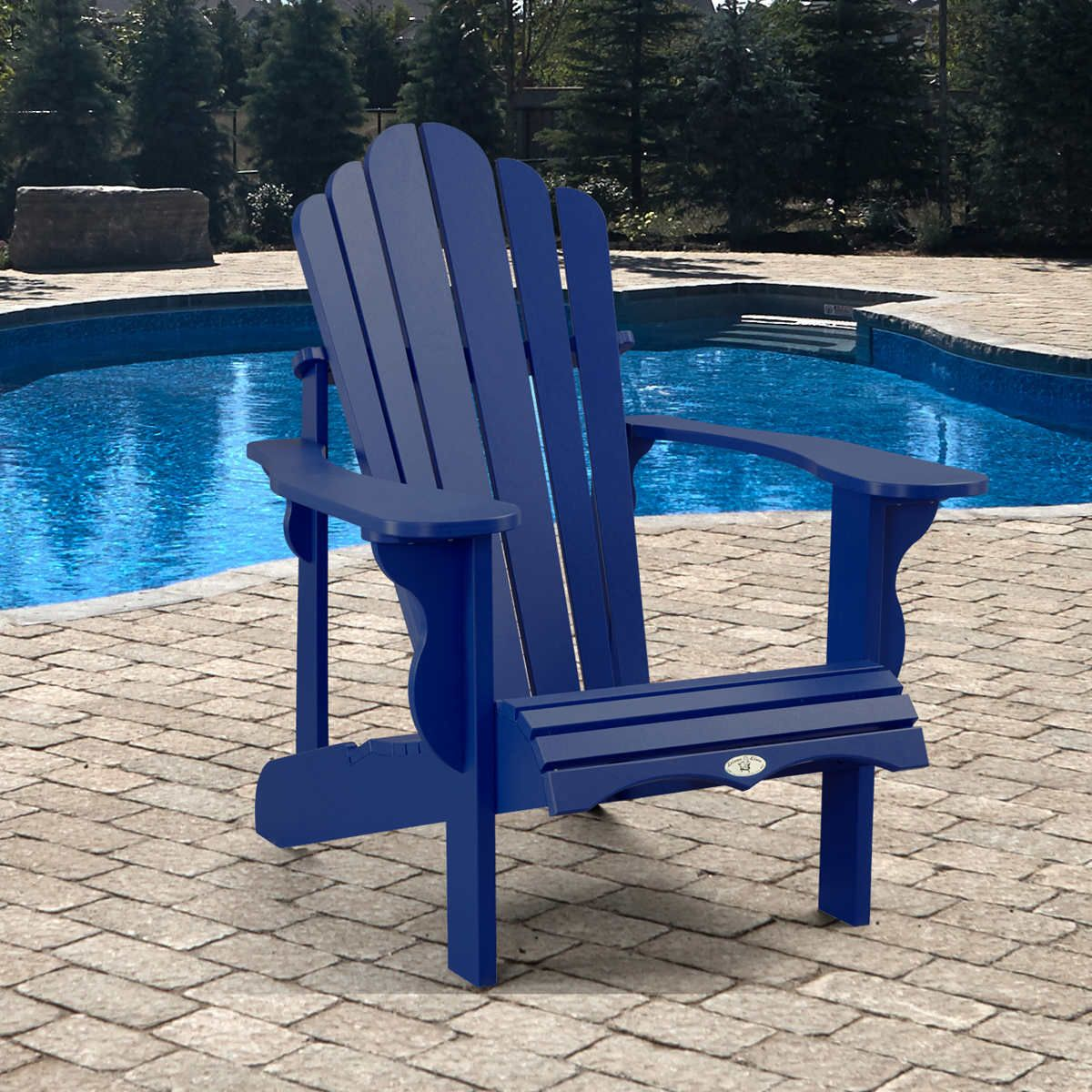 blue 1 Adirondack chair, Adirondack, Pool chairs