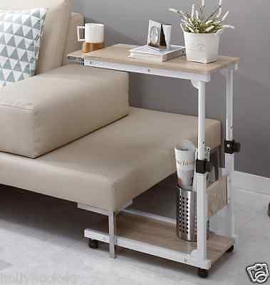 Height Adjustable Bedside Caster Table Diy Multi Use Extendable Laptop Sofa  Desk