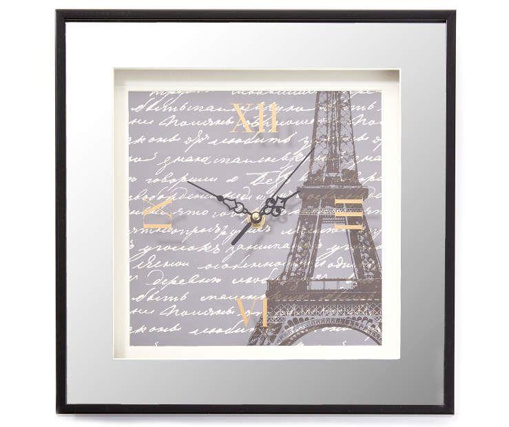 Eiffel Tower Mirror Art Wall Clock Unique Wall Clocks Wall Clock Mirror Art