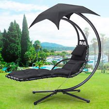 Garden Swing Helicopter Hammock Hanging Dream Chair Seat ... on Hanging Helicopter Dream Lounger Chair id=15844