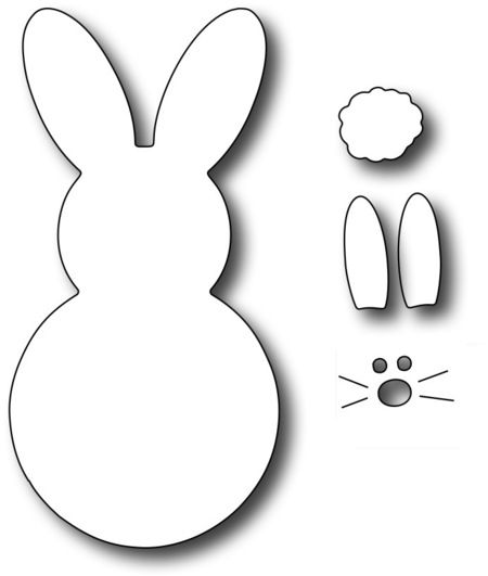 Large Marshmallow Bunny - Frantic Stamper Craft Dies FRA-DIE-09819