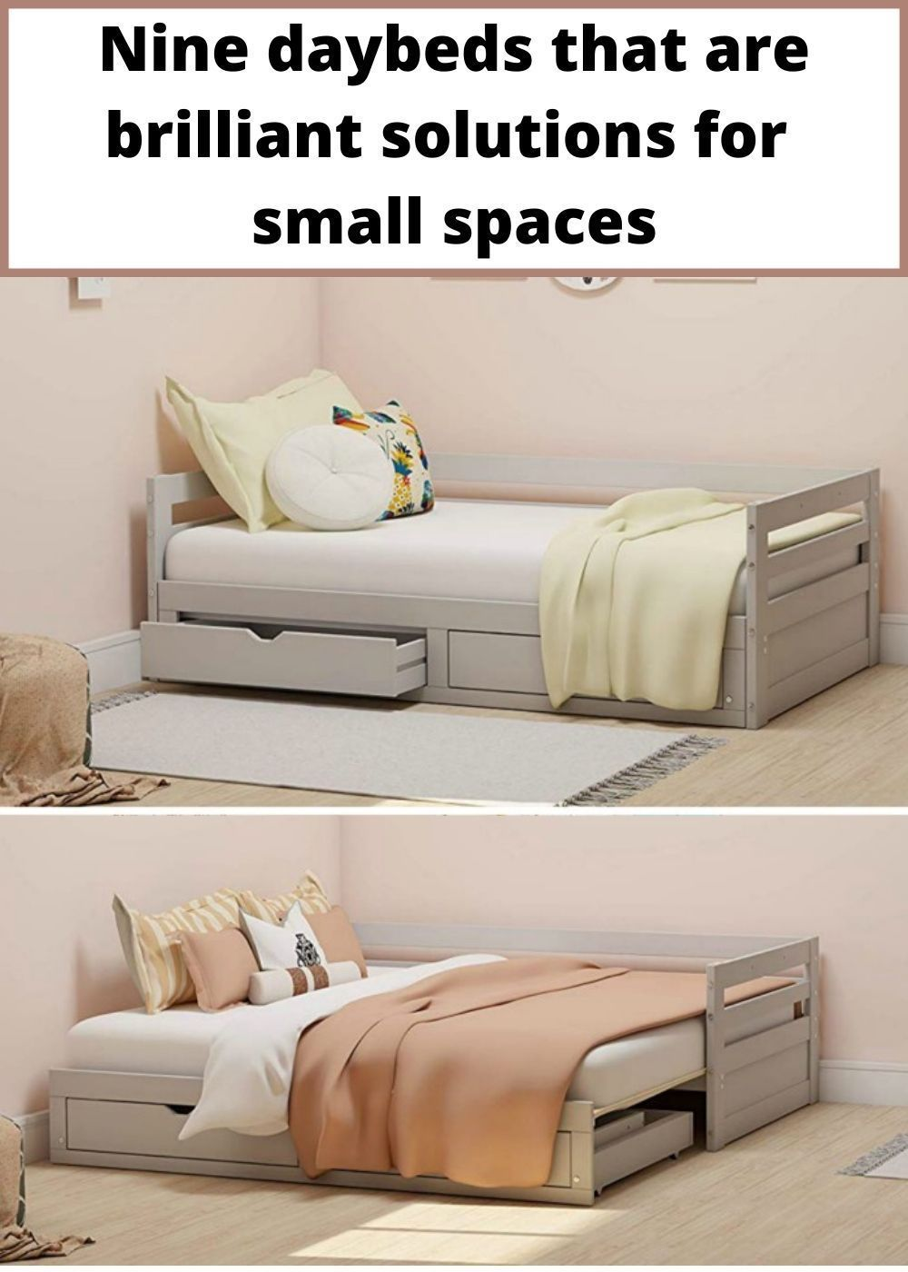 Nine Daybeds That Are Brilliant Solutions For Small Spaces Living In A Beds For Small Spaces Daybed With Storage Furniture For Small Spaces Daybed that converts to king
