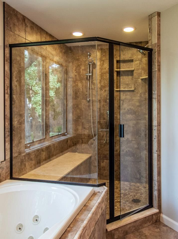 Gorgeous glass shower enclosure designed and installed by Ryan\'s All ...