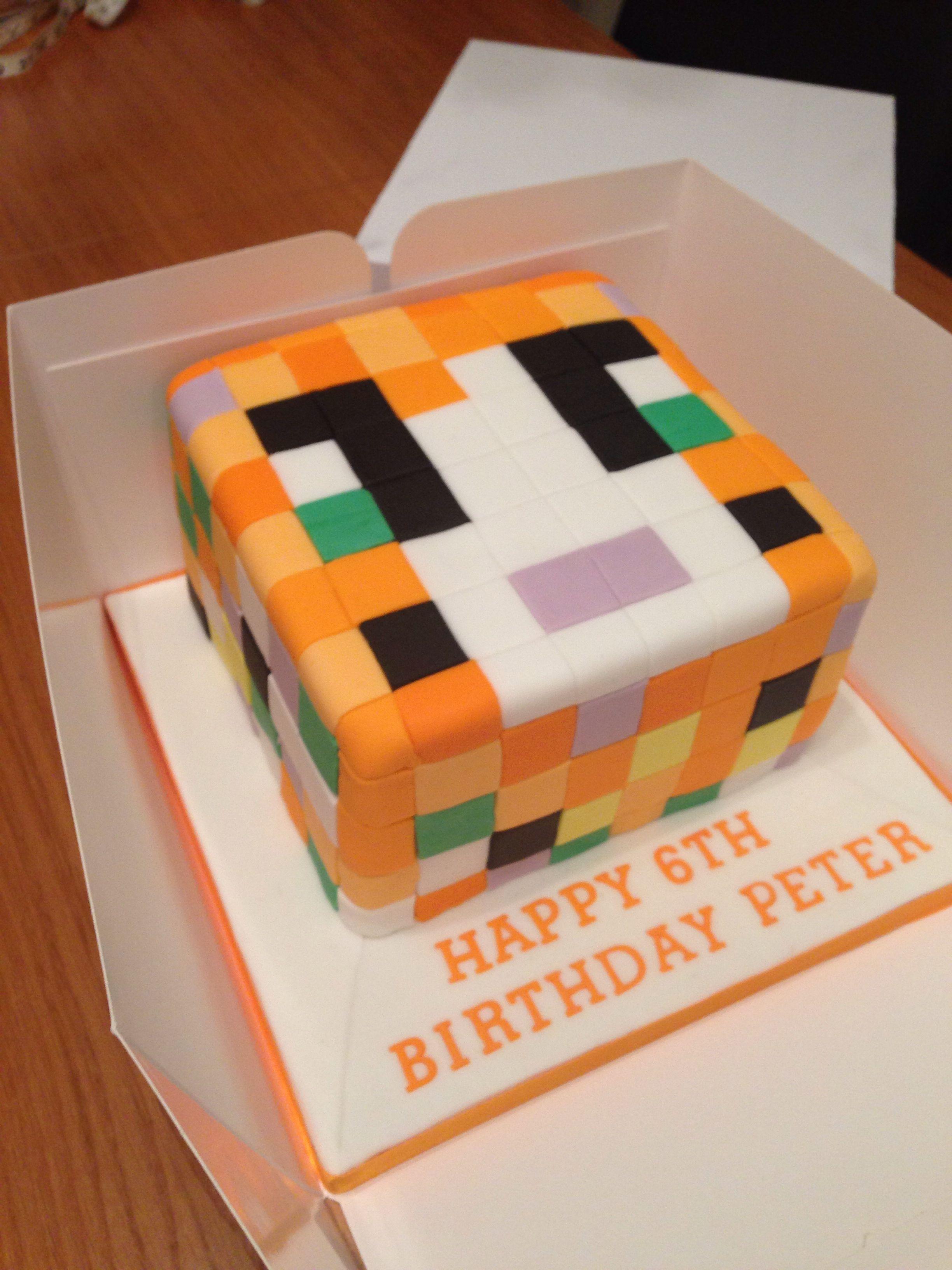 Stampy Cat Cake Deco Ideas Minecraft Birthday Cake