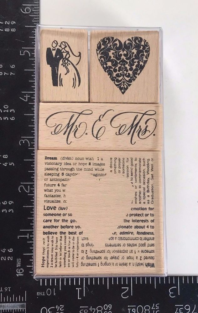 Wedding Rubber Stamping.Stampendous Wedding Rubber Stamp Set Card Making Occasions Heart
