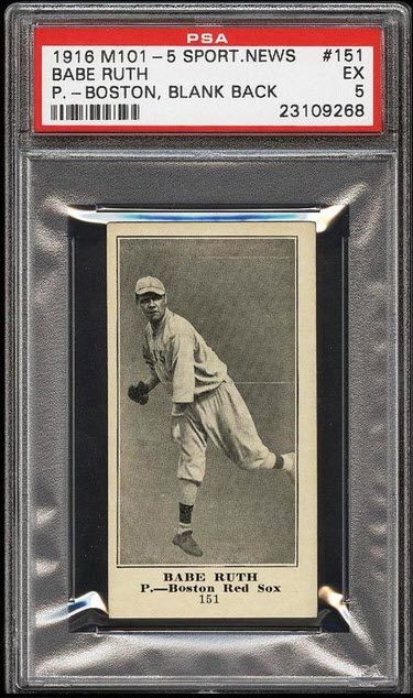 1916 Babe Ruth Rookie Card Hits Ebay Babe Ruth Baseball Cards Baseball