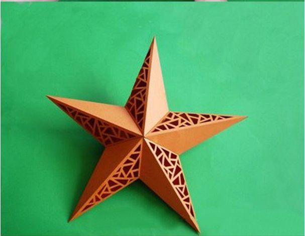 Diy 3d Paper Star Wall Lamp Shade Paper Stars 3d Paper Star