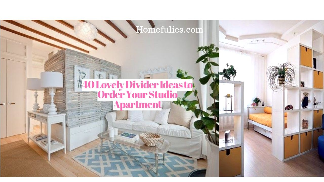 40 Lovely Divider Ideas to Order Your Studio Apartment ...