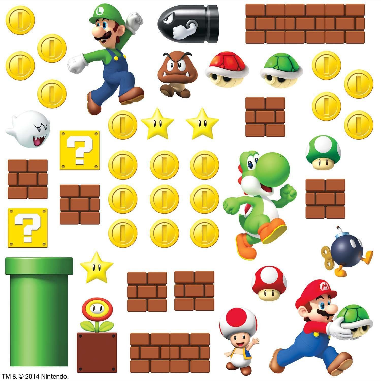 Amazon.com - RoomMates RMK2351SCS Nintendo Super Mario Build a Scene ...