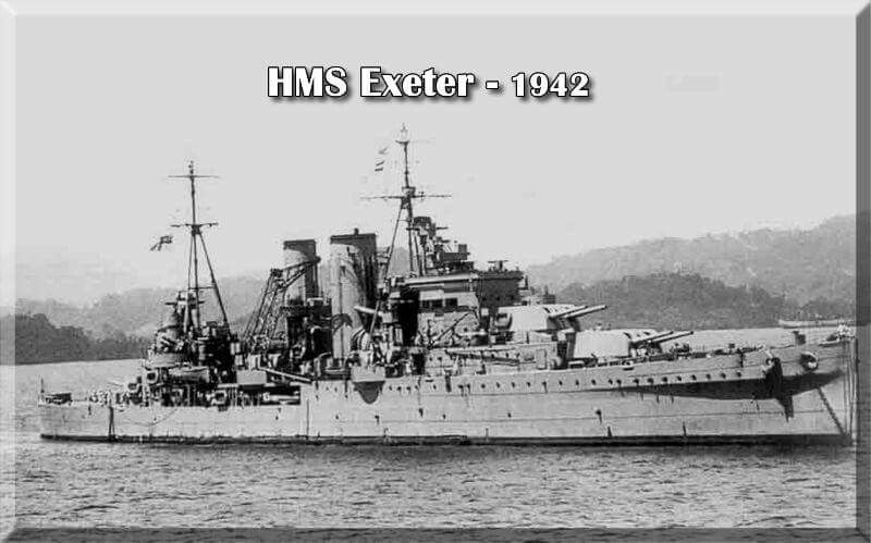 HMS Exeter Royal Navy Crusier sunk at Battle of Java Sea | Ships ...