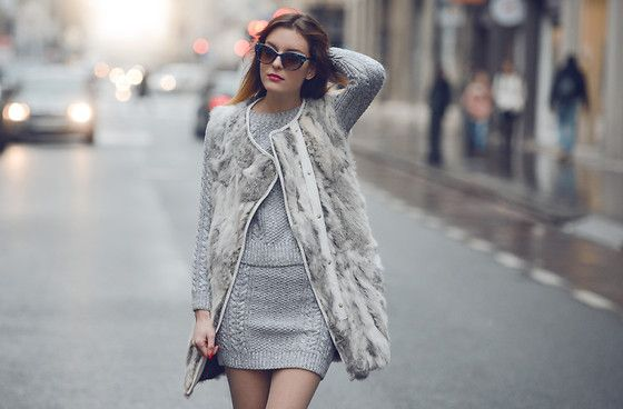 Minusey Coat, Thierry Lasry Sunglasses, Minusey Skirt