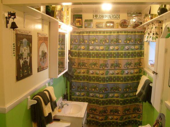 a johnny crapper sorry i could not resist or a john deere rh pinterest com john deere bathroom items john deere bathroom stuff