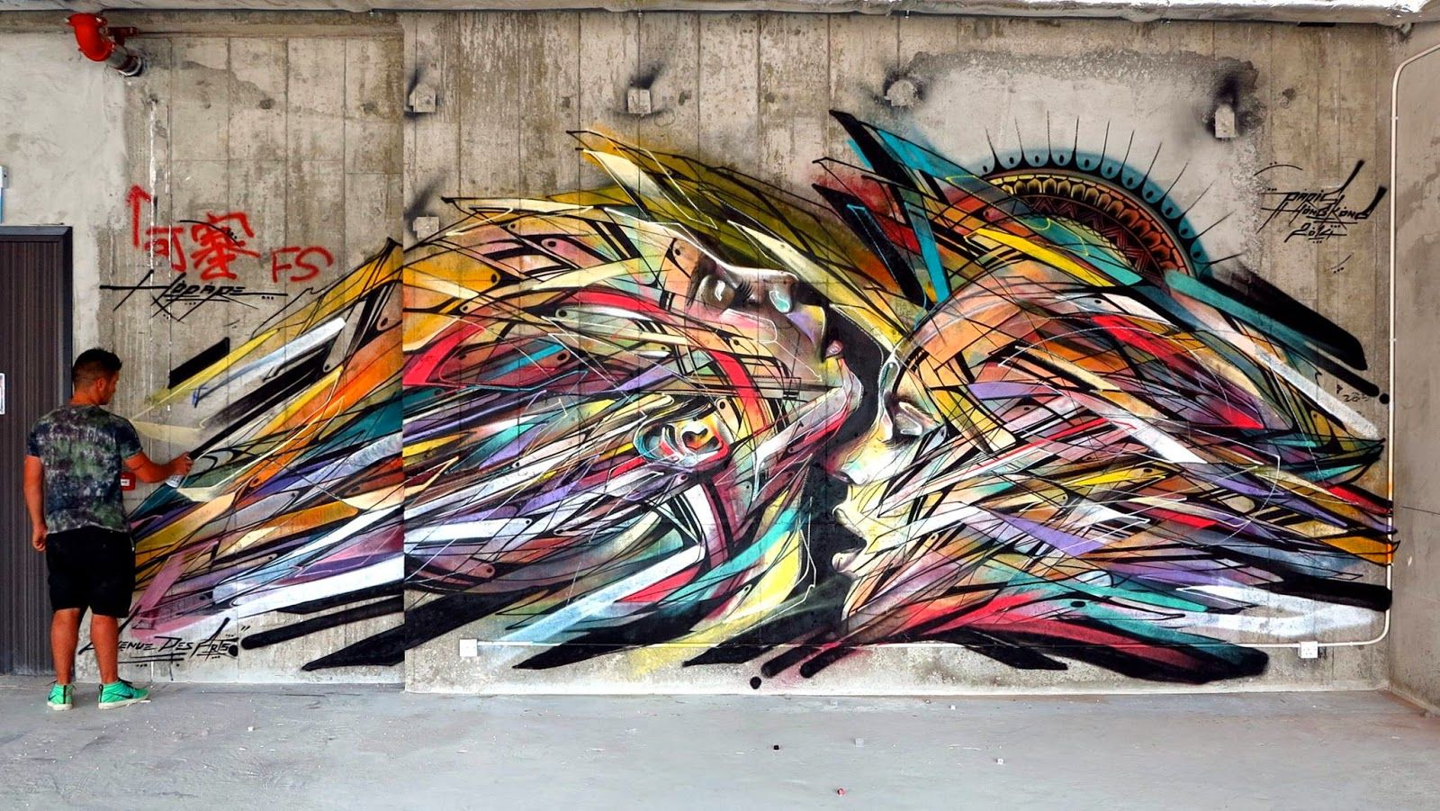 New mural by Hopare In Hong-Kong, China - 09.06.2014