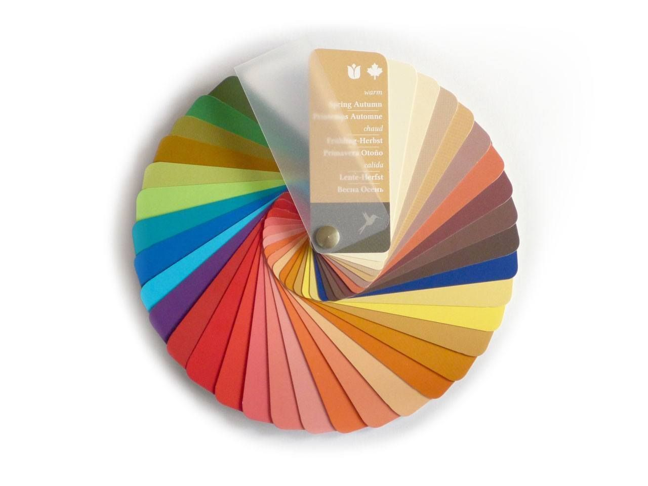 Seasonal Color Swatch Fan Warm Autumn with 35 Colors and 3 Brightness Grades ...
