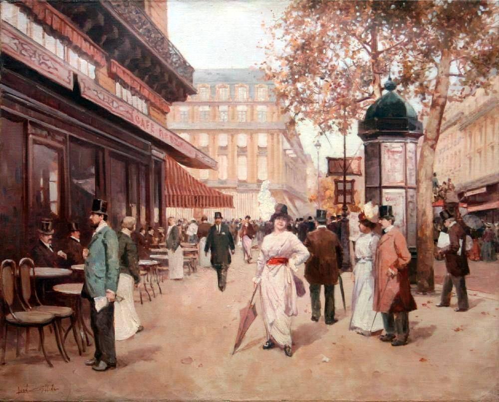 Boulevard Parisien Paris, par Léon Zeytline, 1910-1920 – 4ème partie Léon ZEYTLINE (Tseytline) (1885, Moscou – 1962, Paris), a 15 ans lorsqu'il entre à l'Ecole de Peinture de Moscou, dont il est diplômé en 1908. A l'issue de sa formation, il voyage en Europe, et en 1909, décide de rester vivre en France, ville dont le charme et la beauté suffit à son imagination. Et qui devient une obsession dans son œuvre.
