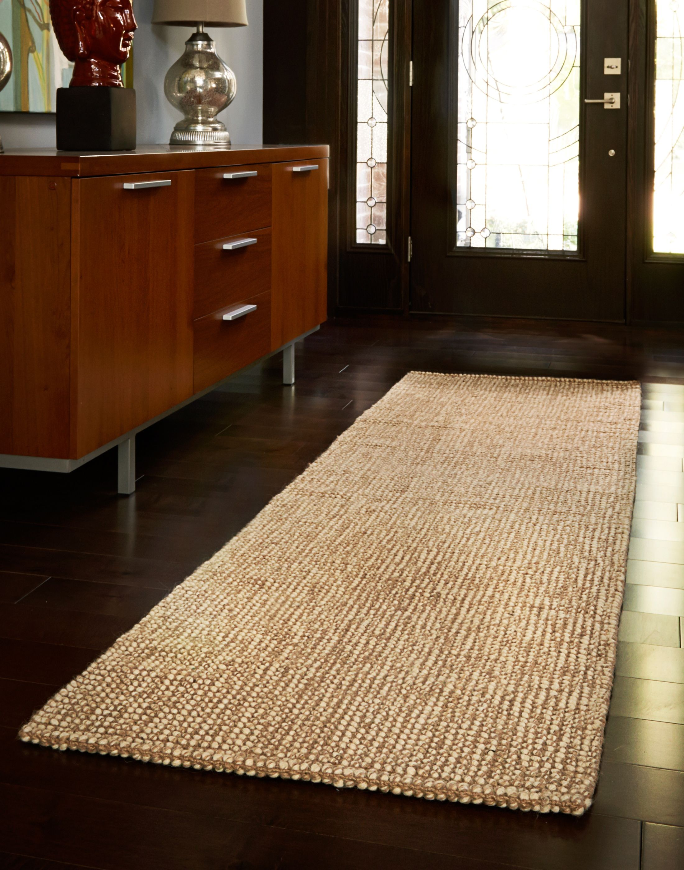 Nice Brown Striped Runner Rug Entryway Hallway Home Decor
