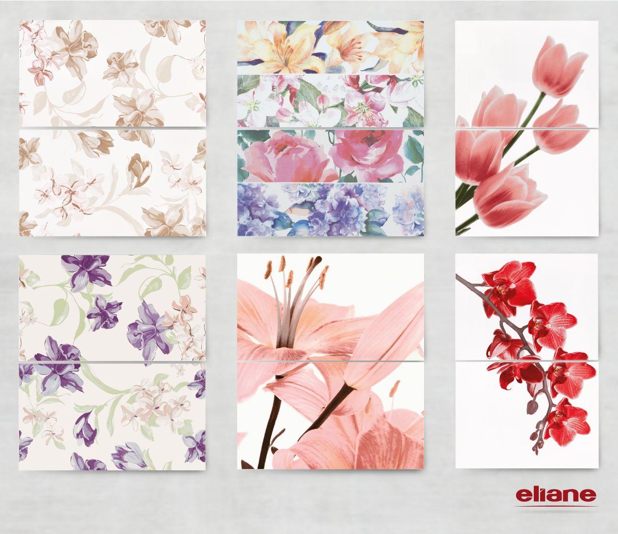 Kit bonjour nude kit nuances kit tulipa kit bonjour - Azulejos con flores ...