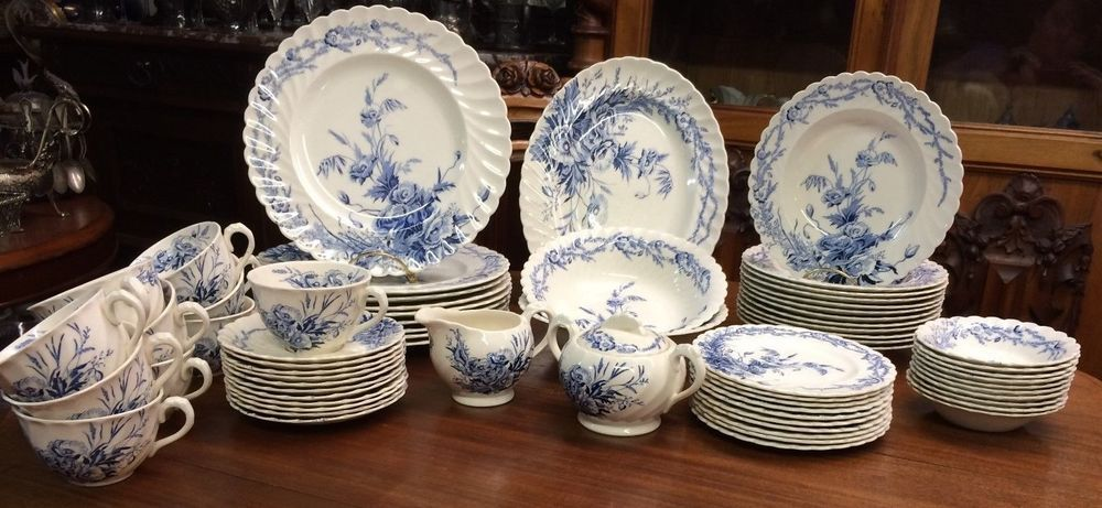 69 pcs Harvest Blue Dinnerware by Clarice Cliff England AJ Wilkinson Co. #AJWilkinsonClariceCliff & 69 pcs Harvest Blue Dinnerware by Clarice Cliff England AJ Wilkinson ...