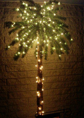 7 foot lighted palm tree with 300 lights 78 tips