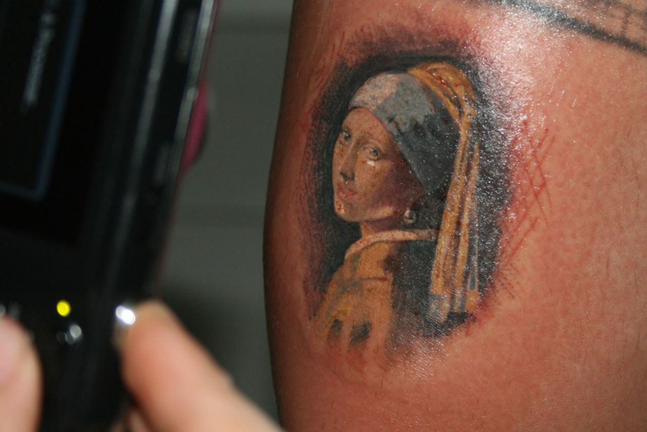:d Girl With The A Pearl Earring! I Love This Painting! So Cool
