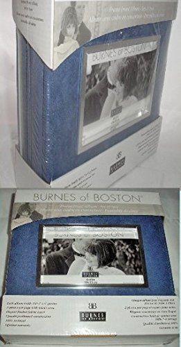 burnes of boston blue w silver accents two photo album bundle