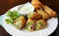 Original Avocado Rolls Avocado Cream cheese Sun dried tomatoes Red onion Cilantro Pine nuts