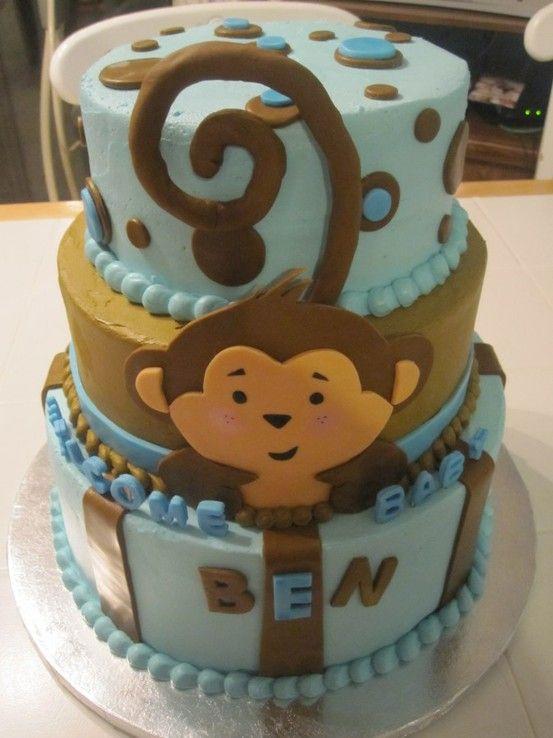 Monkey cake fun cake decorating ideas pinterest for Monkey bathroom ideas