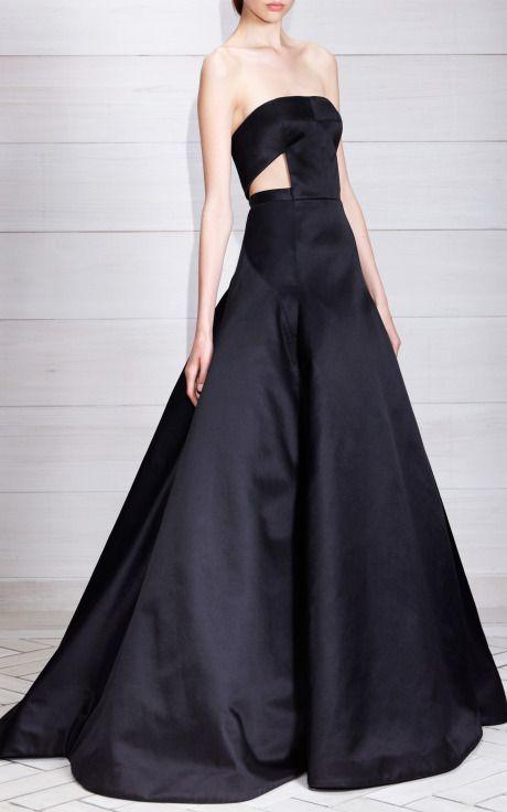 DESIGNER: JASON WU Jason Wu Duchess Satin Strapless Cutout Gown ...