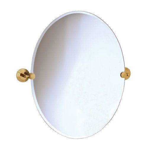 Gatco 5219 Marina Polished Brass Tilting Oval Mirror Oval Mirror