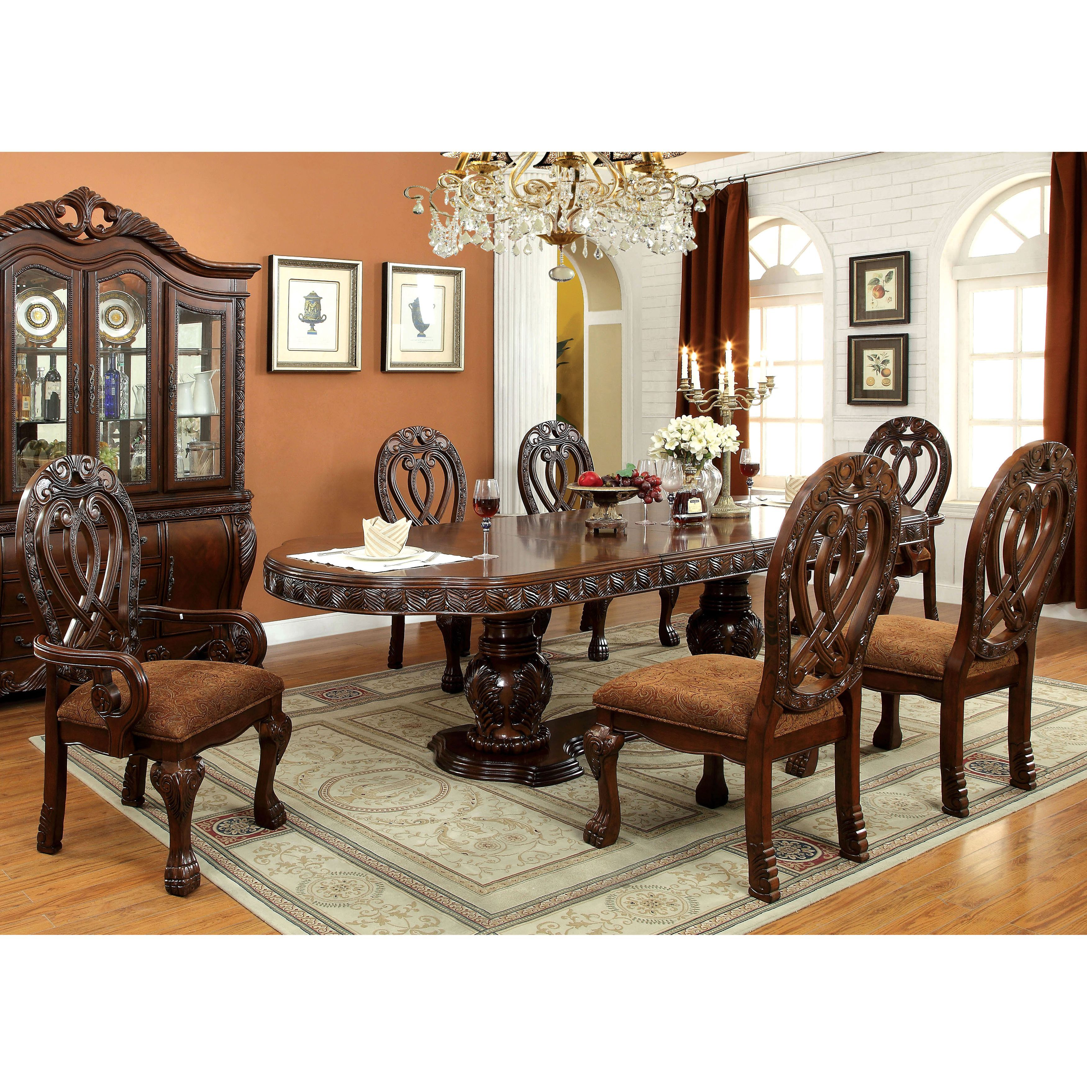 Furniture Of America Dubelle 7 Piece Formal Dining Set: Furniture Of America Beaufort Formal 7-Piece Dining Set In