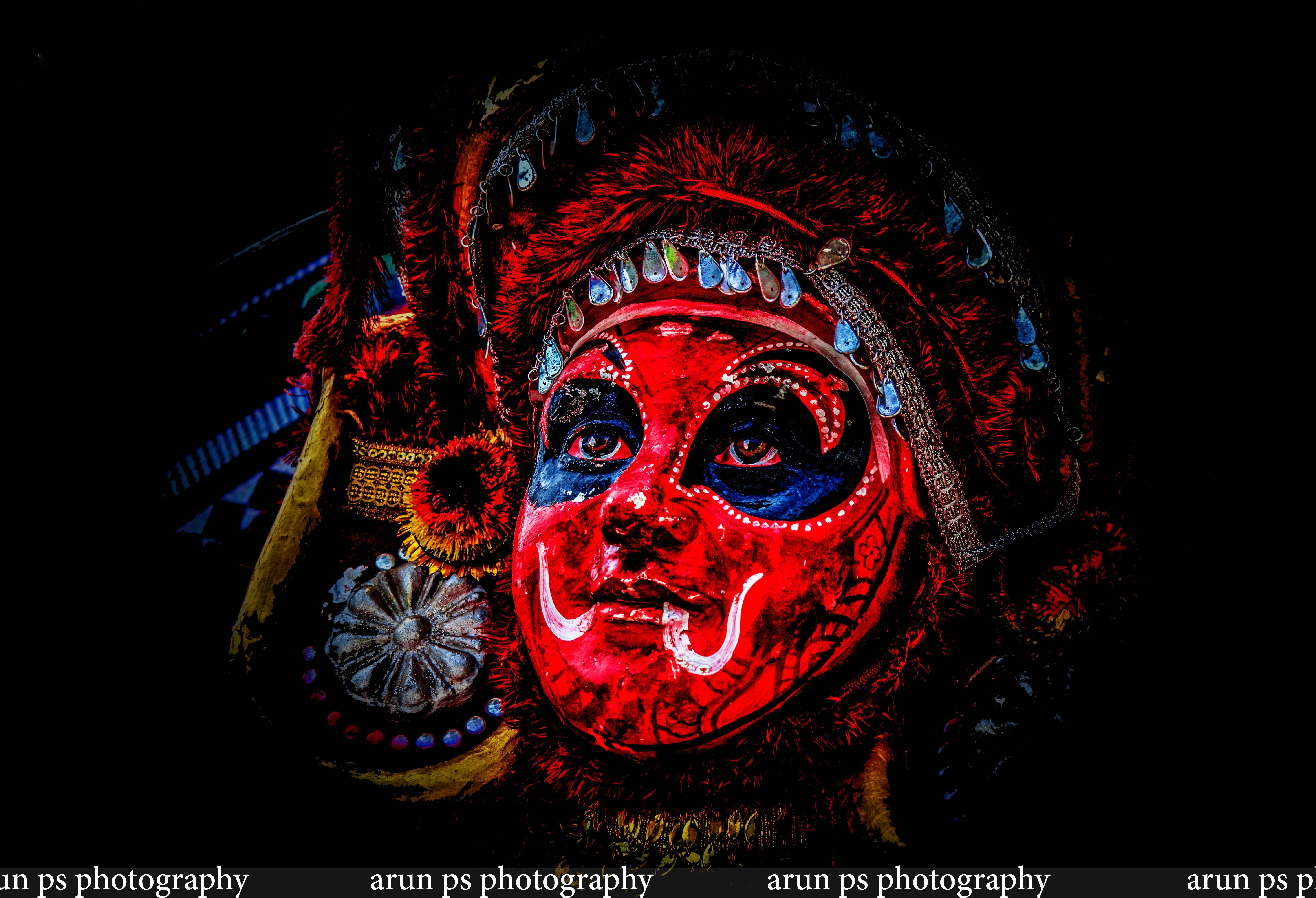 Theyyam Art Photography Hd Wallpaper Kerala Mural Art Culture Art Abstract Art Painting