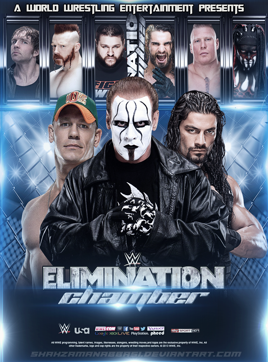 Wwe Elimination Chamber Poster Wwe Events Wrestling Posters Wwe Legends