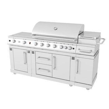 Master Forge 8 Burner Gas Grill 6318b 1 299 00 Lowe S Grill Outdoor Kitchen Outdoor Kitchen Countertops Outdoor Kitchen Appliances