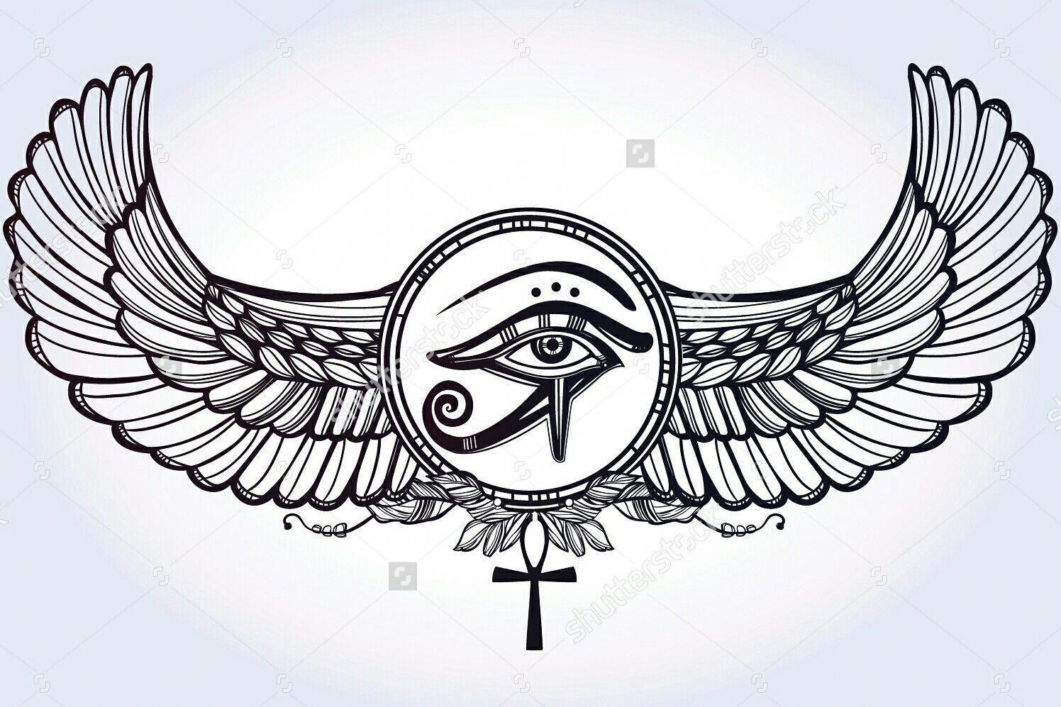 e898fa583 #necktattoosideas #Tattoosonneck Armor Of God Tattoo, Eye Of Ra Tattoo,  Tatuagem Ankh