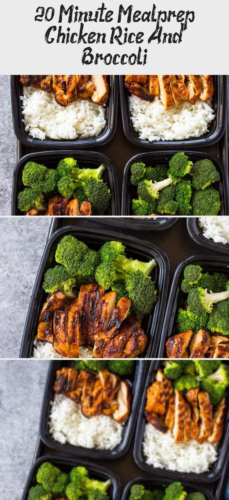 Quick skillet chicken rice and steam broccoli all made in under 20 minutes for a healthy mealprep lunch box that The employees those with limited time those who need to p...