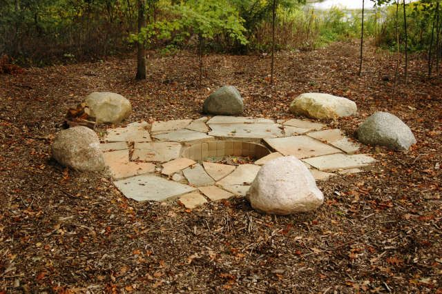 Firepit With Rocks And I D Use Logs As Well For Seating Love