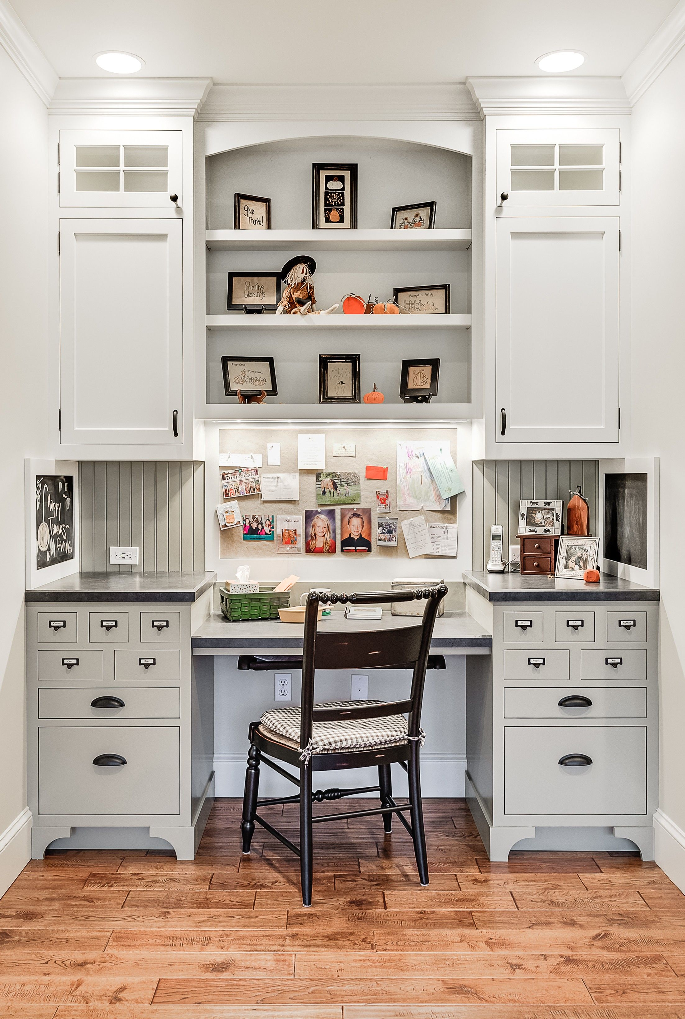 9 Design Tricks for a Fab Home Office   Kitchen desk areas ...