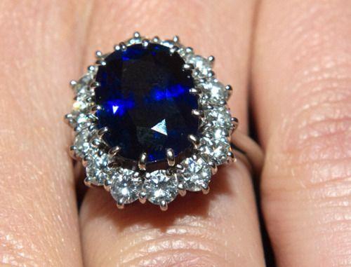 A closeup of Princess Diana's engagement - 28.5KB