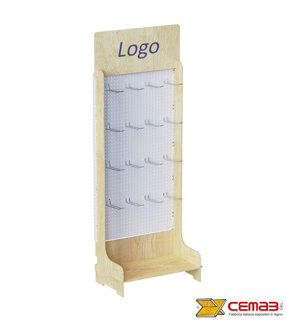 Photo of Espositore porta spezie in legno, con piani inclianti | Cemab