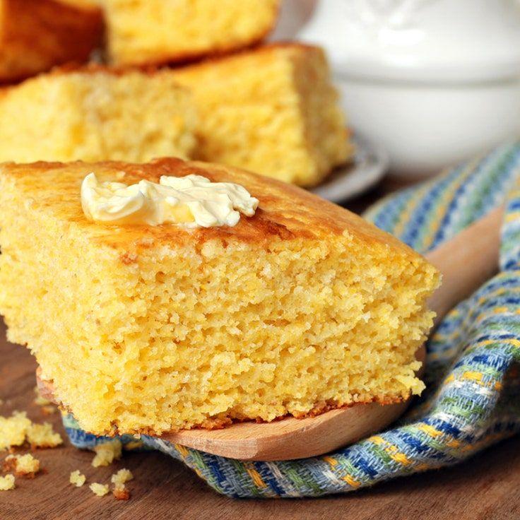 Easy Corn Bread Recipe In 2020 Buttermilk Cornbread Homemade Buttermilk Cornbread Food