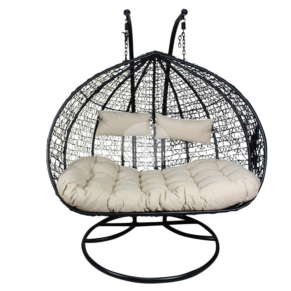XL Double And a Half Hanging Egg Chair Rattan Wicker