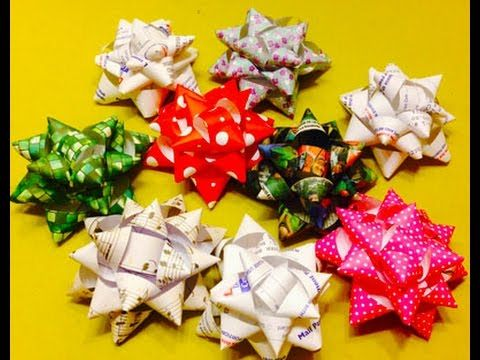 DIY: Paper Gift Bow/ How To Make Paper Bow/ Gift Wrapping/ Paper ...   360x480