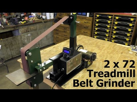 Belt Grinder Build From Scrap Workout Bench And Treadmill