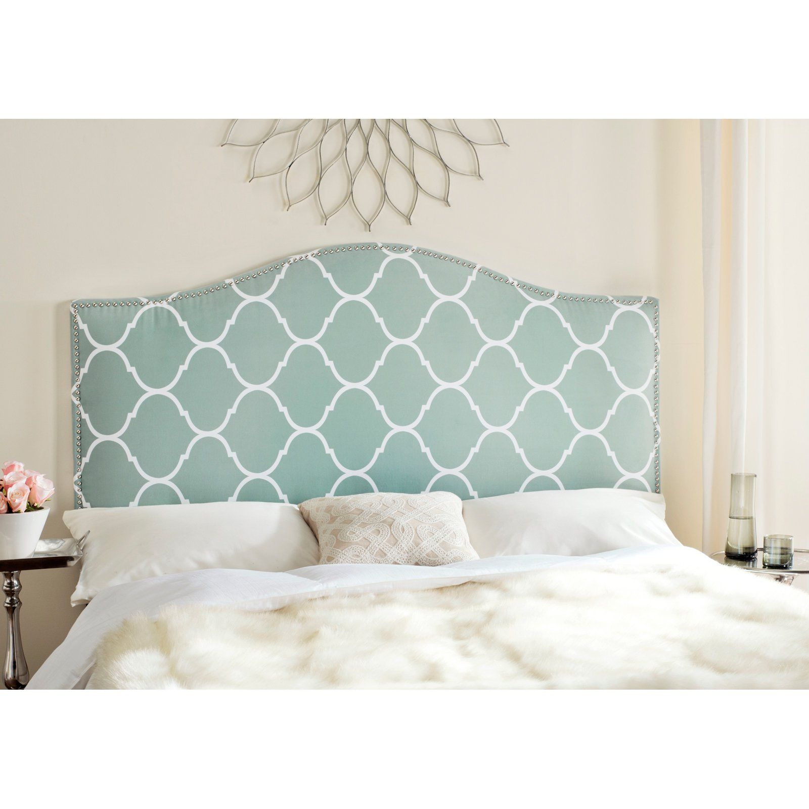 Safavieh Connie Lattice Upholstered Headboard - Subtly enhance your bed and  bedroom with the elegant Safavieh