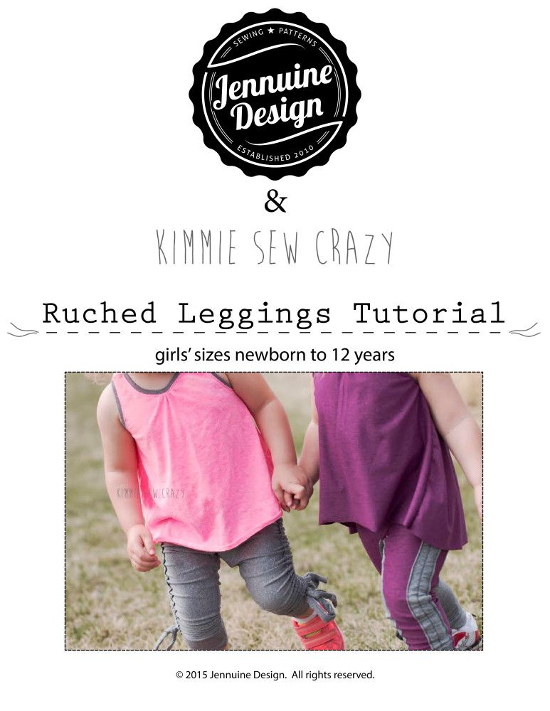 Free PDF Tutorial :: Ruched Leggings | Ropa de niños | Pinterest ...