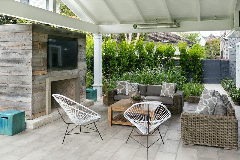 Blanc Gris Bois Osier Backyard Spaces Backyard Design Outdoor Living