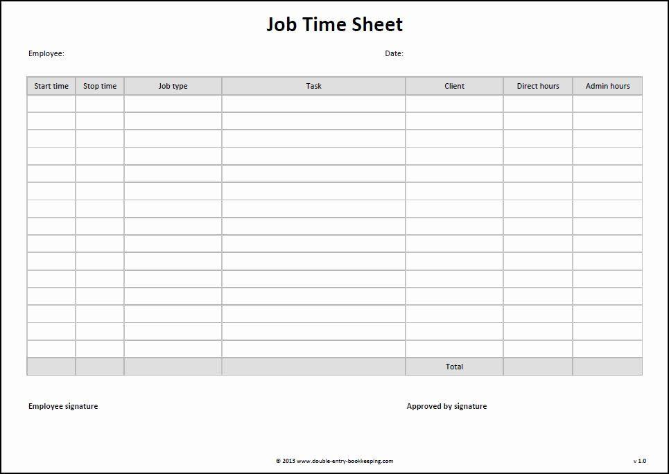 Work Hour Sheet Best Of Job Time Sheet Template Timesheet Template Job Cards Business Template